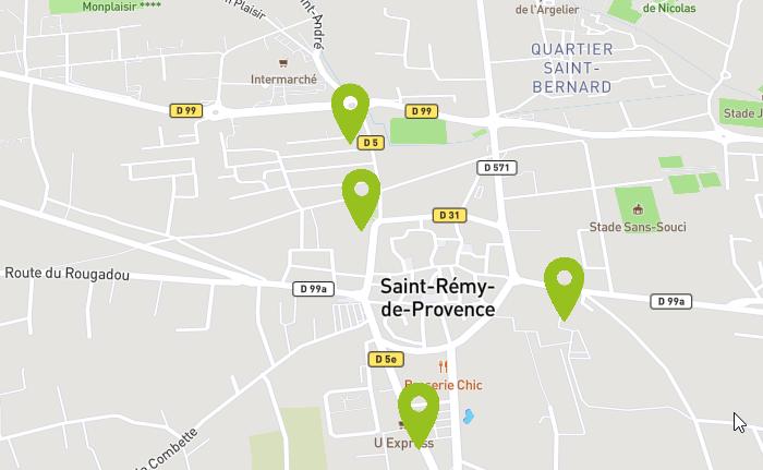 bornes de recharge électrique à Saint Rémy de Provence