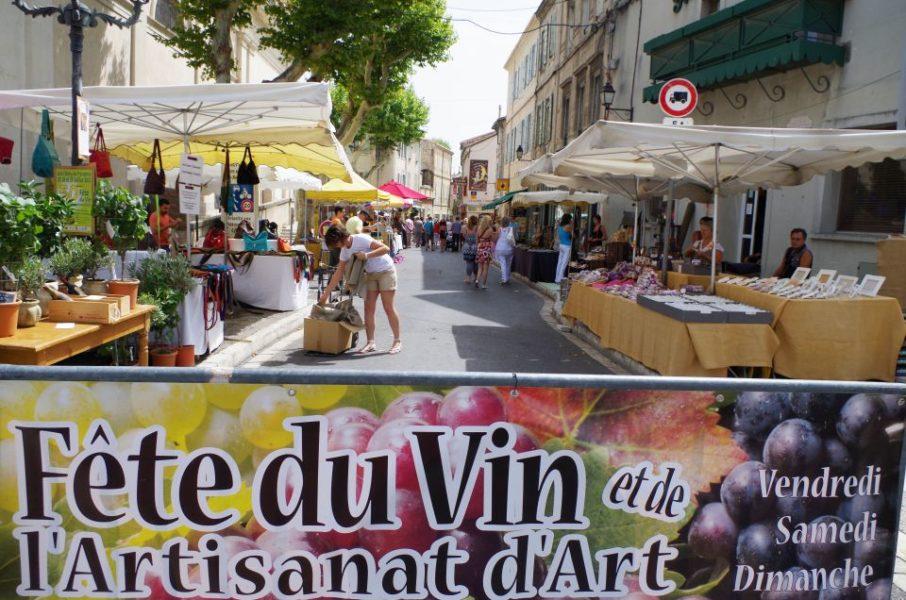 Fête vin artisanat art St Rémy de Provence